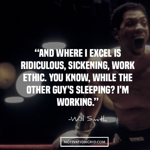 Will smith quotes on hard work, motivational picture image