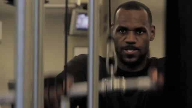 Lebron James training in the gym