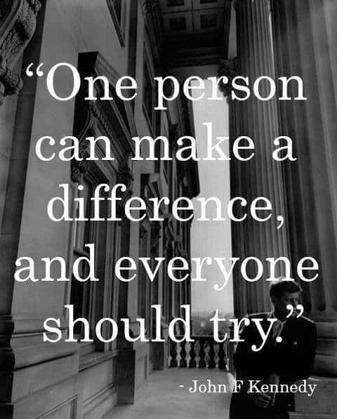 One person can make a difference and everyone should try, motivational quotes, motivational image quotes, motivational picture quote, motivational image, motivation picture quote, motivation image, inspirational images,