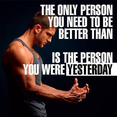 Motivational Videos Quotes, Inspiring Quote, The only person you need to be better than