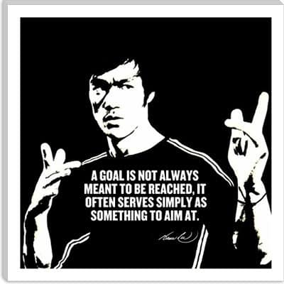 A goal is not always meant to be reached, bruce lee quotes