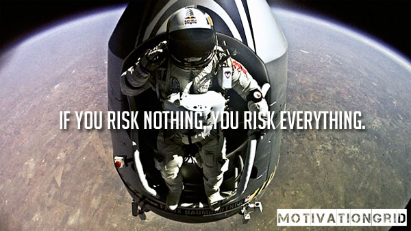 Inspirational risk quote