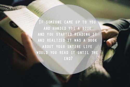 If someone handed you a book about life, throught provoking quotes, quote, awesome
