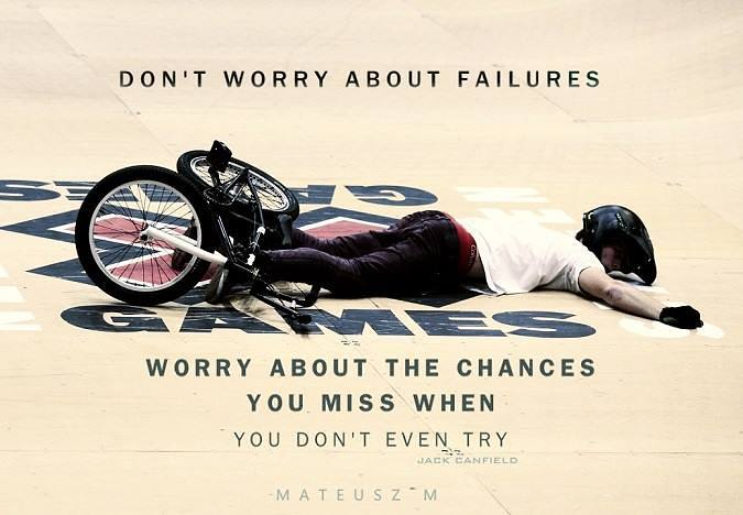 inspirational image quote about failure and chances