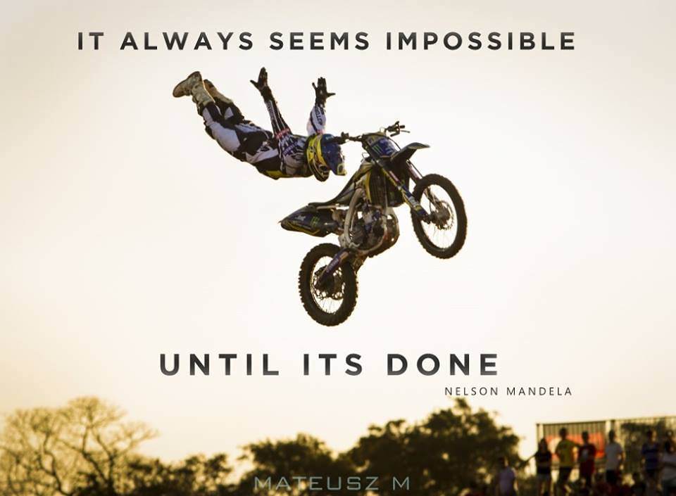 inspirational image quote about impossible