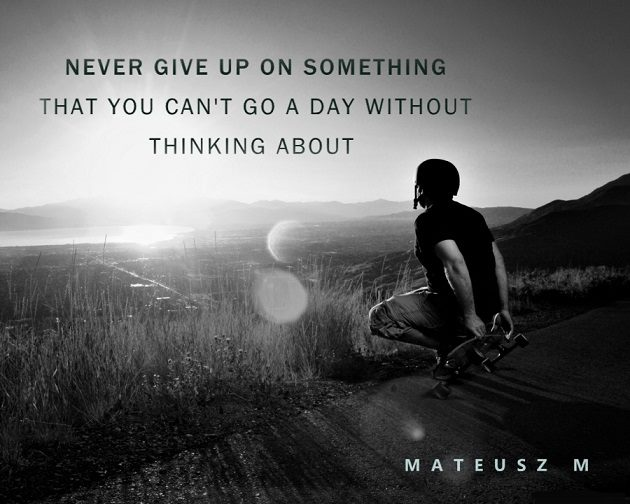 inspirational image for never give up