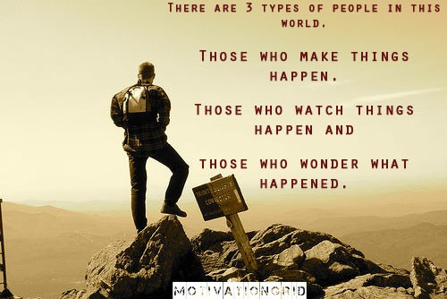 Thought provoking quotes, there are 3 types of people in this world