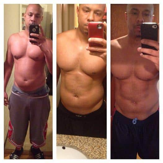 Transformation, Anthony Henderson, Body transformation, losing weight