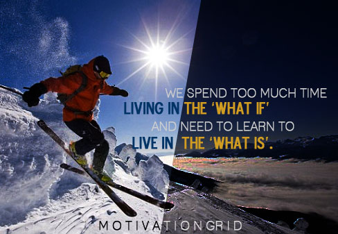 inspirational image quote about living in the present