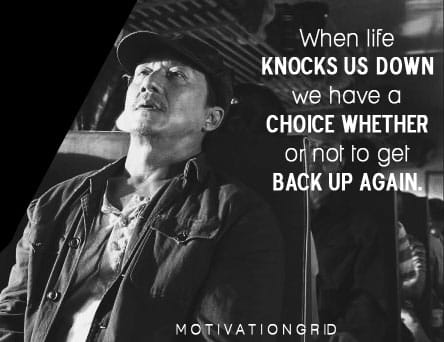 motivational and inspirational image from jacky chan in karate kid