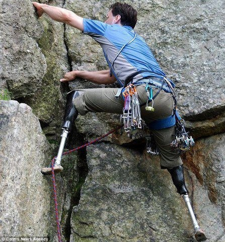 rock climber with no legs,