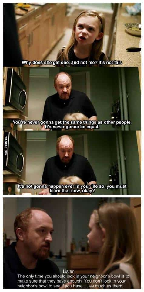 Louis C.K life lesson to his daughter,