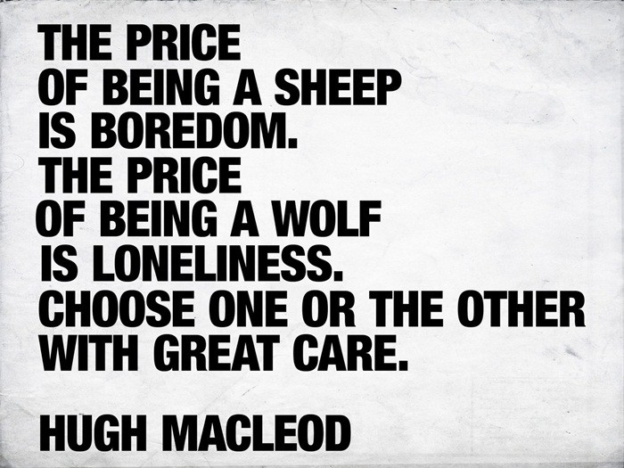 Hugh Macleod quote about wolves