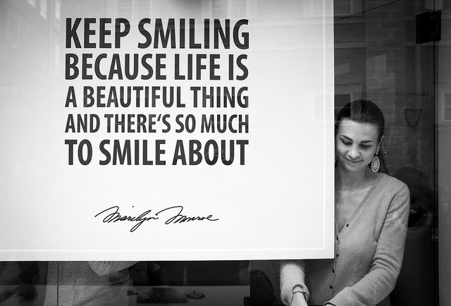 Smiling leads to a happier life as well