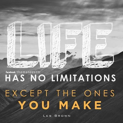 Life has no limitations except the ones you make.