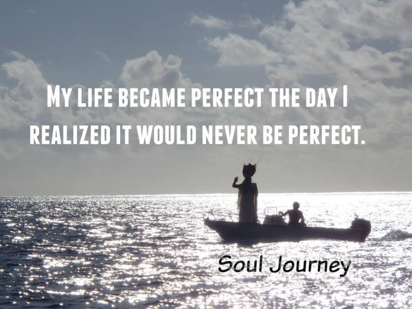 My life became perfect the day I realised it would never be perfect.