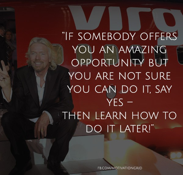 Richard Branson Quote about opportunity