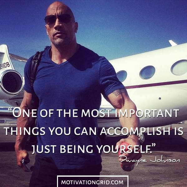 Dwayne Johnson The Rock Being Yourself Picture Quote