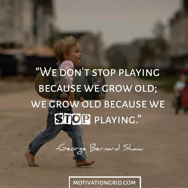 George Bernard Show quotes about growing old