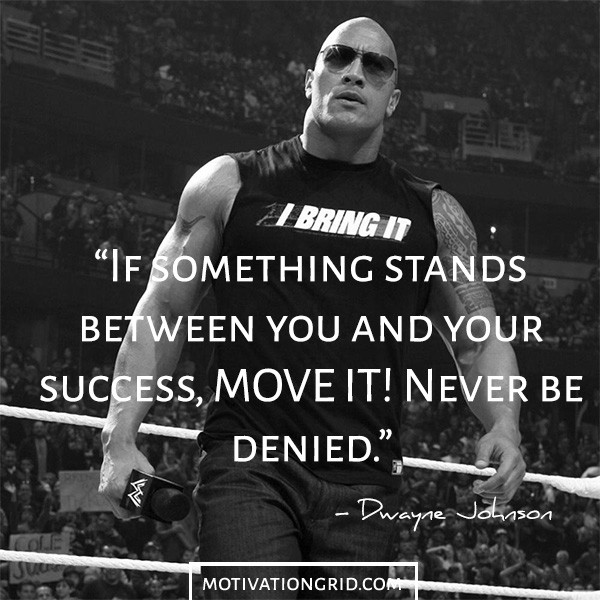 Dwayne Johnson Inspiration Image Quote