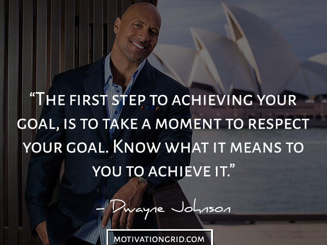 Respect motivational image saying by Dwayne Johnson