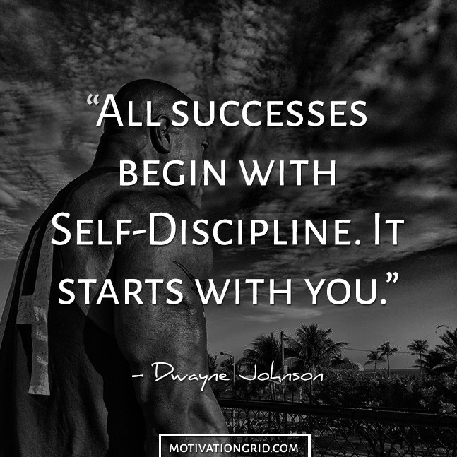 Dwayne Johnson Discipline Image Quote