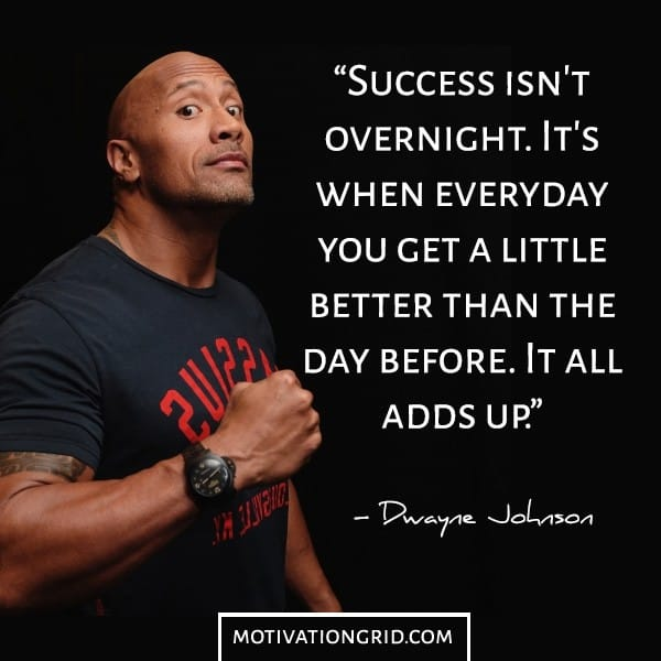 Success in life image quote by Dwayne Johnson The rock