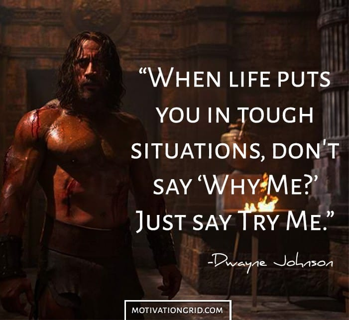 Dwayne Johnson quote from Pain and Gain image