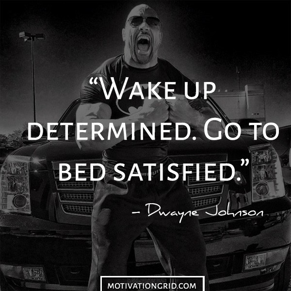 Determined image quote from Dwayne The Rock Johnson