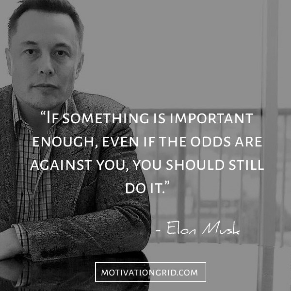 Elon Musk Quotes about the odds