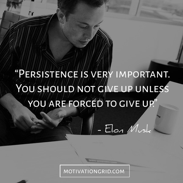 Persistence quote by Elon Musk