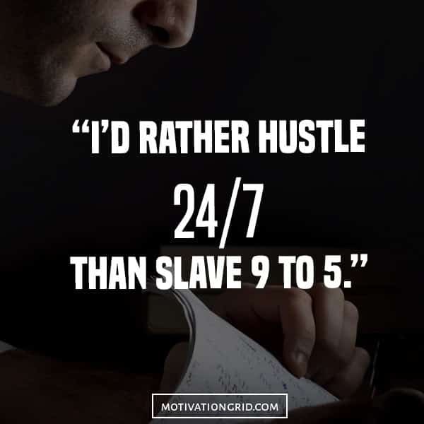 Inspirational image quote about working hard