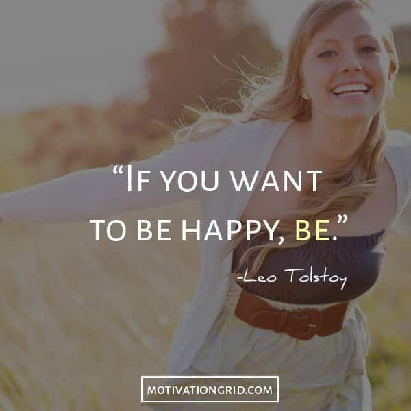 Leo tolstoy quote about being happy