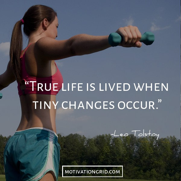 Leo tolstoy about living true life, making tiny changes, motivational picture quote