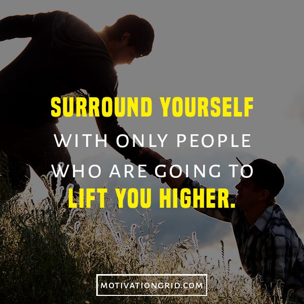 secrets to getting motivated, motivational quote, oprah winfrey, surround yourself with only great people