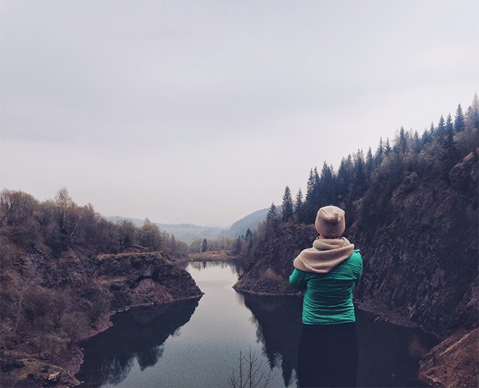 toxic thoughts that crush your confidence, woman on the lake with thinking