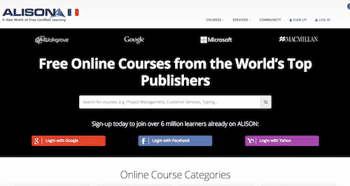 Alison, online education for free