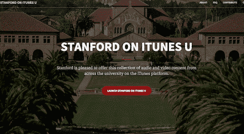 Itunes University, free online education