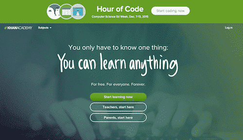 Khan academy, free online education