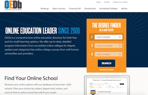 free online education, Open Education database