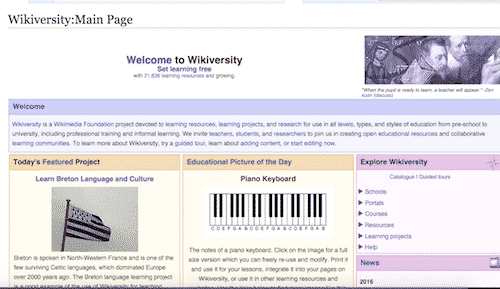 wikiversity, places to education yourself online for free