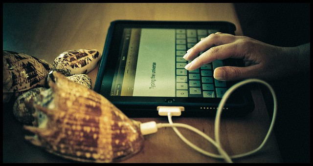 hacks for a perfect cv, man typing on tablet
