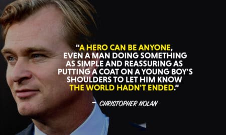 Christopher Nolan quotes, quotes by Christopher Nolan, A hero can be anyone quote